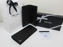PRADA Leather Long Wallets