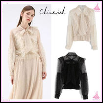 Chicwish Star Long Sleeves Elegant Style Shirts & Blouses