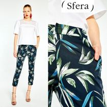 Sfera Tropical Patterns Casual Style Long Cropped & Capris Pants