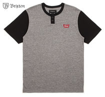 BRIXTON Henry Neck Street Style Short Sleeves Henley T-Shirts