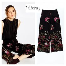 Sfera Flower Patterns Casual Style Long Culottes & Gaucho Pants