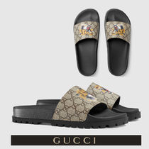 GUCCI Monogram Blended Fabrics Street Style Other Animal Patterns
