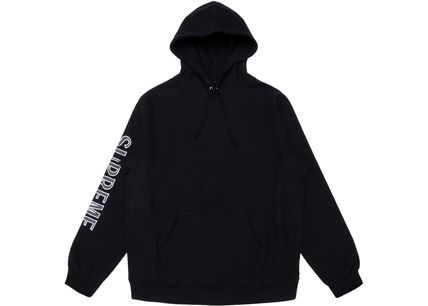 Supreme Hoodies Long Sleeves Cotton Logos on the Sleeves Hoodies 3