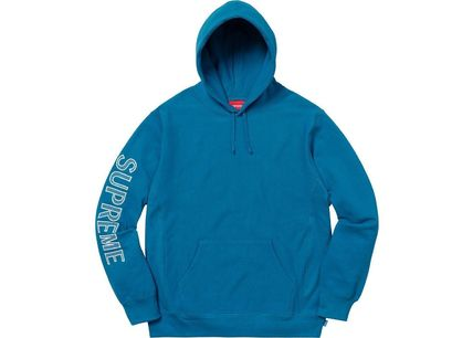 Supreme Hoodies Long Sleeves Cotton Logos on the Sleeves Hoodies 4