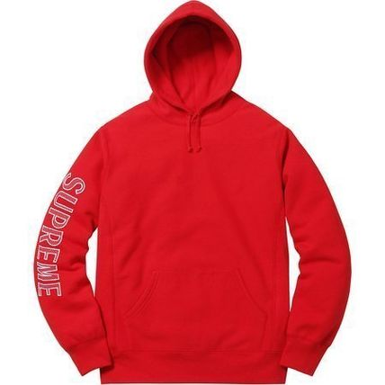 Supreme Hoodies Long Sleeves Cotton Logos on the Sleeves Hoodies 5