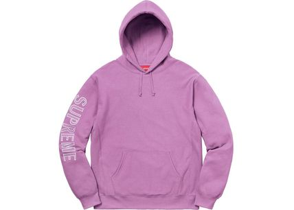Supreme Hoodies Long Sleeves Cotton Logos on the Sleeves Hoodies 6