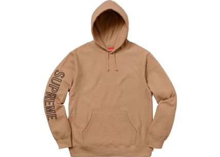 Supreme Hoodies Long Sleeves Cotton Logos on the Sleeves Hoodies 7