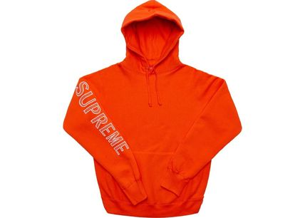 Supreme Hoodies Long Sleeves Cotton Logos on the Sleeves Hoodies 8