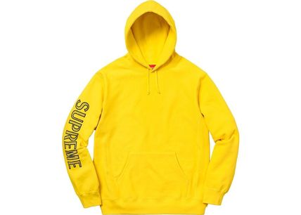 Supreme Hoodies Long Sleeves Cotton Logos on the Sleeves Hoodies 9