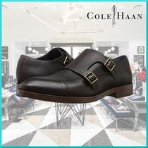 Cole Haan Straight Tip Monk Plain Leather Loafers & Slip-ons