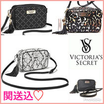Victoria's secret Leopard Patterns Tassel Python Elegant Style Shoulder Bags