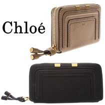 Chloe Marcie Calfskin Plain Long Wallets