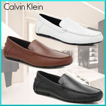 Calvin Klein Street Style Plain Leather U Tips Loafers & Slip-ons