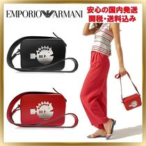 EMPORIO ARMANI Leather Elegant Style Shoulder Bags