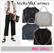 Stella McCartney FALABELLA Faux Fur A4 2WAY Chain Plain Totes