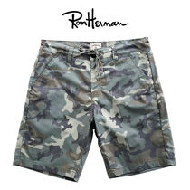 Ron Herman Camouflage Cotton Handmade Shorts