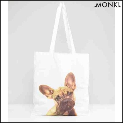 Casual Style Plain Other Animal Patterns Totes