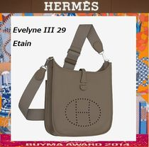 HERMES Evelyne Casual Style 2WAY Leather Shoulder Bags