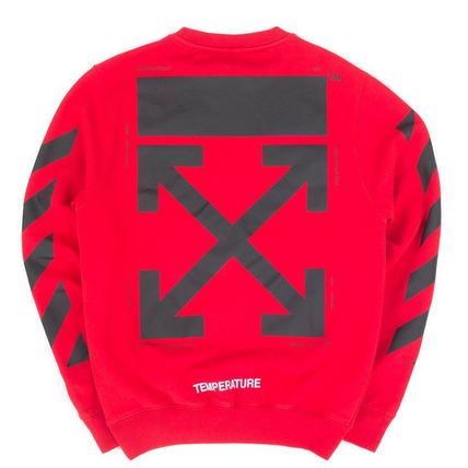 Off-White Hoodies Crew Neck Unisex Long Sleeves Plain Cotton Hoodies 3