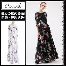 Chicwish Flower Patterns Maxi Cropped Long Elegant Style Dresses