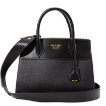 PRADA 2WAY Plain Leather Shoulder Bags