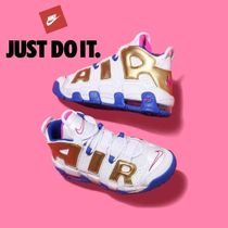 Nike AIR MORE UPTEMPO Tropical Patterns Casual Style Faux Fur Street Style