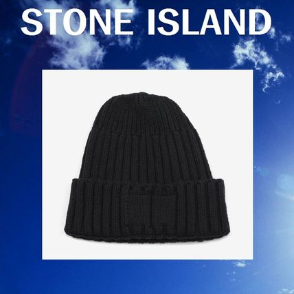 8d0c311ad0c04 STONE ISLAND Street Style Knit Hats (BLACK RIBBED BEANIE HAT) by ...