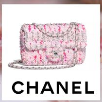 CHANEL Other Check Patterns 2WAY Chain Elegant Style Handbags