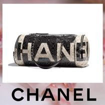 CHANEL Canvas Blended Fabrics 2WAY Chain Boston & Duffles