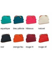 HERMES Bolide Canvas Plain Pouches & Cosmetic Bags