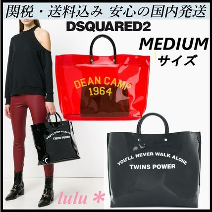 Casual Style A4 Plain Crystal Clear Bags PVC Clothing Totes