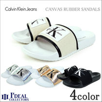 Calvin Klein Rubber Sole Shower Shoes Flat Sandals