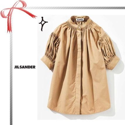 Casual Style Plain Short Sleeves Shirts & Blouses