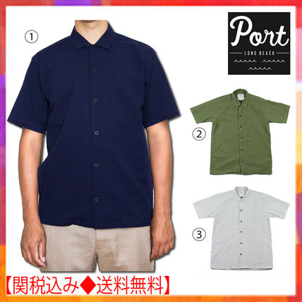 Plain Cotton Short Sleeves Shirts