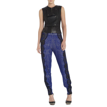 Silk Long Party Style Skinny Pants