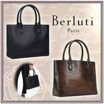 Berluti A4 2WAY Leather Totes