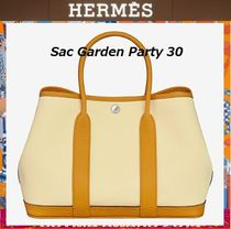 HERMES Garden Party Leather Elegant Style Totes