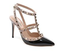 VALENTINO Studded Plain Leather Pin Heels Party Style