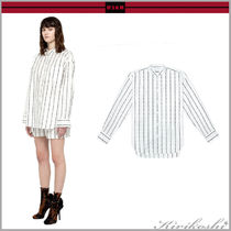 MSGM Stripes Casual Style Long Sleeves Cotton Medium Oversized