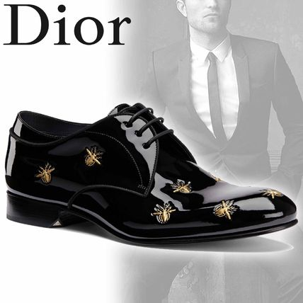 Plain Toe Street Style Other Animal Patterns Leather Oxfords