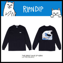 RIPNDIP Street Style U-Neck Long Sleeves Cotton Long Sleeve T-Shirts