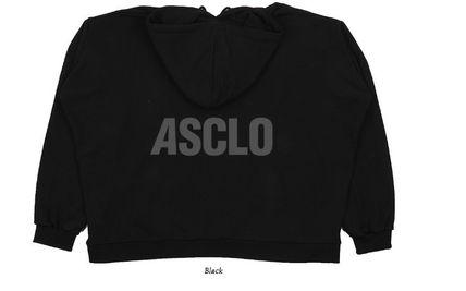ASCLO Hoodies Street Style Plain Short Sleeves Hoodies 14