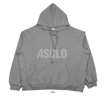 ASCLO Hoodies Street Style Plain Short Sleeves Hoodies 15