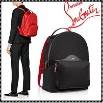 Christian Louboutin Nylon Studded Plain Backpacks