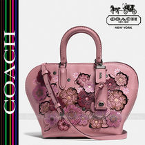 Coach Flower Patterns Studded 3WAY Leather Handbags
