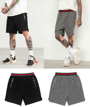 Dezzn Stripes Unisex Street Style Plain Cotton Sarouel Shorts