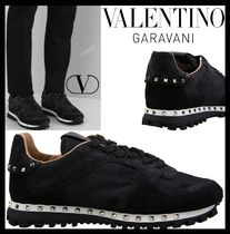 VALENTINO Street Style Elegant Style Low-Top Sneakers