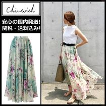 Chicwish Flower Patterns Maxi Long Elegant Style Maxi Skirts