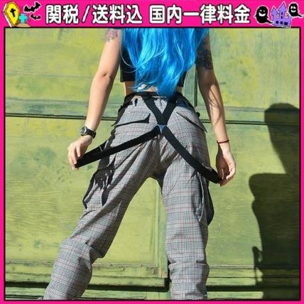 Other Check Patterns Casual Style Long Oversized Pants