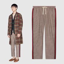 GUCCI Zigzag Wool Street Style Cropped Pants